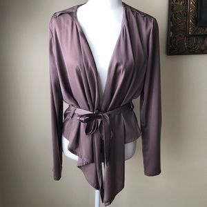 New York and Company Satin Purple Blazer